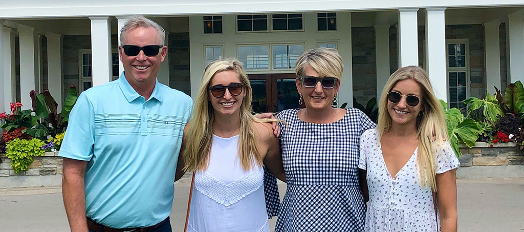 Wilson family... Dave, Kaitlyn, Jacquie, Kendall